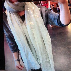 Faliero Sarti Accessories - Faliero Sarti pale Gray green cashmere silk scarf